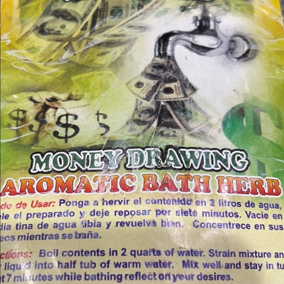 Aromatic bath to attract money and fortune